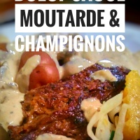 Bavette de boeuf sauce moutarde & champignons: Tendrement votre...
