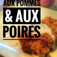 Croustade aux pommes, amandes, cassonade & poires: Explosion de saveurs garantie...