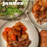 Rôti de porc aux patates jaunes: Classique, tendre & savoureux...