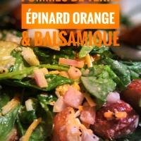 Salade de pommes de terre, épinard, orange & balsamique