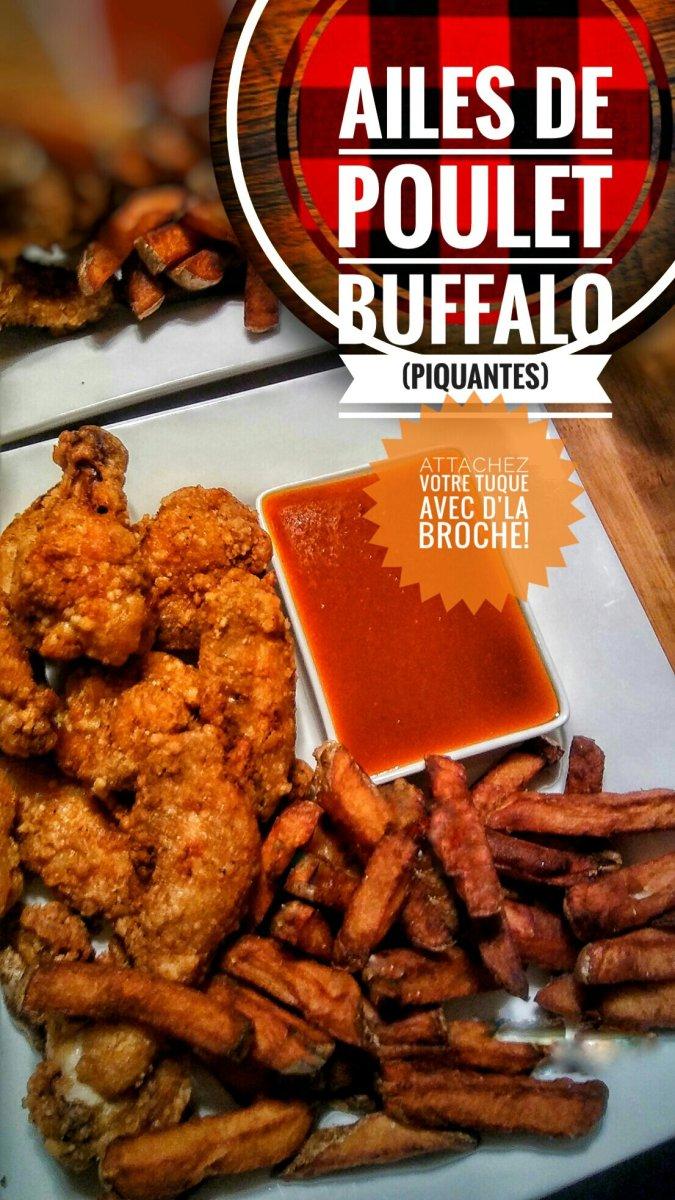 Ailes de poulet Buffalo (piquantes): Attachez votre tuque avec d'la broche...