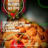 Escalopes de veau (flambées au calvados) à la crème et aux pommes: La crème de vos repas des fêtes...