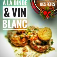 Vol-au-vent à la dinde & vin blanc: Une charmante idée  pour le temps des fêtes...