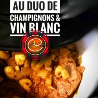 Rôti de palette de veau au duo de champignons & vin blanc: Parfaite réunion familiale...