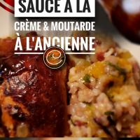 Poulet de Cornouailles sauce à la crème/moutarde à l'ancienne: Poules de ville émoustillantes...