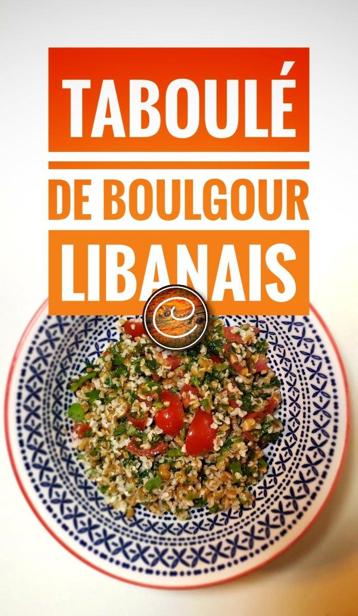 Taboulé de boulgour libanais: Quand menthe, tomate & citron tombent en amour...