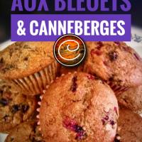 Muffins aux bleuets & canneberges: Moelleux & sans lactose...