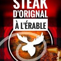 Steak d'orignal à l'érable: Saveurs heureuses d'un printemps sucré-sauvage...