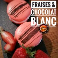 Macarons à la ganache de fraises & chocolat blanc: Ces délices fondants d'amour...