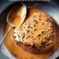 Sauce aux 5 poivres (sans alcool): Idéale pour steaks ou filets mignons...