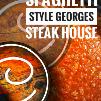 "Sauce spaghetti style ""Georges steak house"": L'Italie version ""saguenéenne""..."