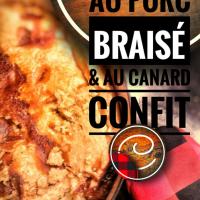 Tourtière au porc braisé & au canard confit: Festin d'automne au coin-coin du feu...