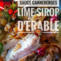 Dinde pamplemousse, sa sauce aux canneberges/lime/sirop d'érable & ses petits pois au bacon: Délice original pour le réveillon…
