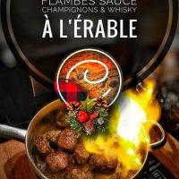 Mignons de porc flambés sauce champignons & whisky à l'érable: Pour allumer le feu au réveillon…