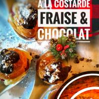 Choux farcis à la costarde, fraises & chocolat: Boules de Noël chocolatées...