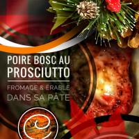 Poire bosc au jambon prosciutto, fromage & érable dans sa pâte: Mirobolant festin du temps des fêtes...