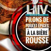 Pilons & ailes de poulet épicés à la bière rousse: Festin en mode Superbowl...