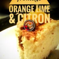 Gâteau au fromage orange lime & citron: Classique visité par le soleil...