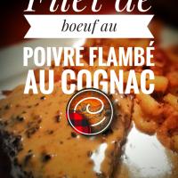 Filet de boeuf flambé au cognac & sa sauce au poivre: Festin chaleureux...
