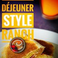 """Wrap déjeuner style """"ranch"""": Pour ces petits matins ensoleillés, classiques, rapides & pratiques..."""