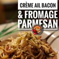 Linguinis champignons, crème, ail, bacon & fromage parmesan: Vivre passionnément...